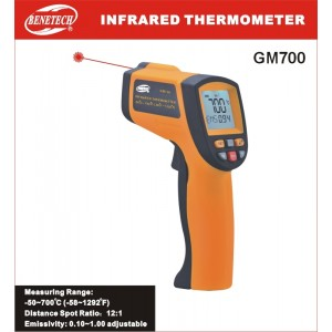 Infrared Thermometer GM700 with laser aimpoint